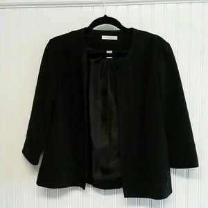 Dress Barn 3/4 Sleeve Black Jacket